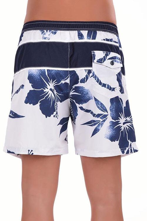 Modro-bílé letní pánské plavky