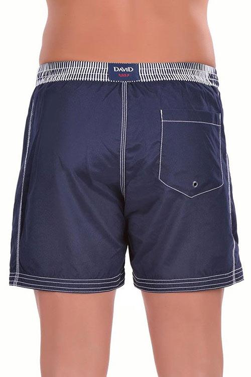 Modré pánské plavky s velkou kapsou