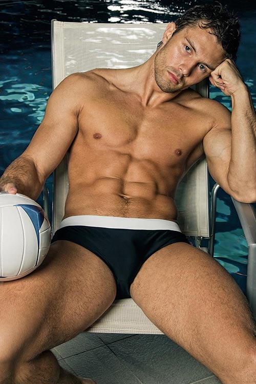 Pánské plavky do bazénu Alpha Male Ergo black
