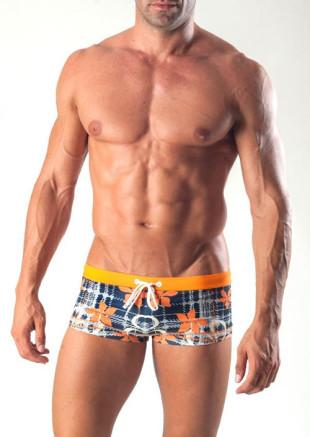 Pánské boxerkové plavky GERONIMO 1501B2 s kratší nohavičkou