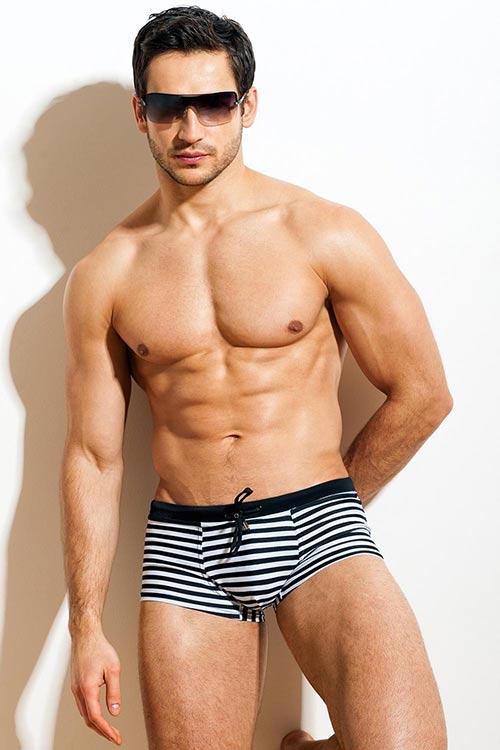 01575f34c4d Pánské plavky boxerky GERONIMO 1430 s nohavičkou - Levné pánské plavky