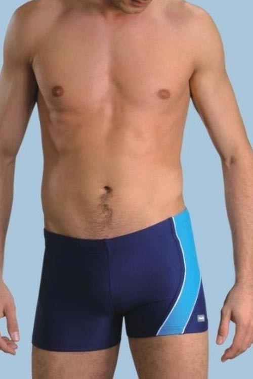 Modré dvoubarevné pánské plavky