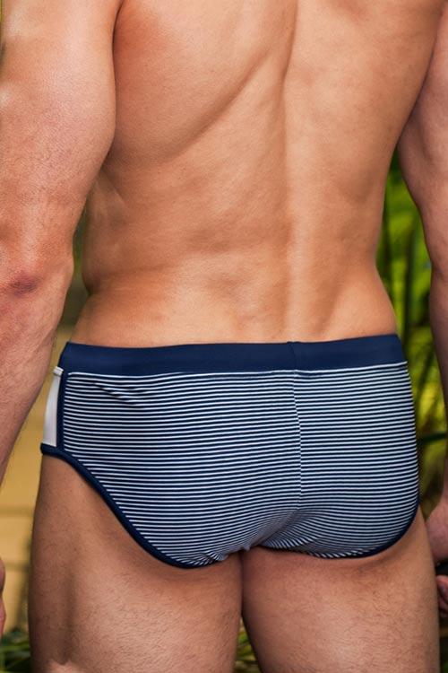 Modro-bílé pruhované pánské plavky