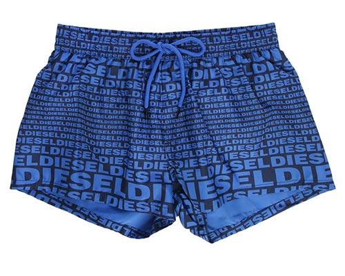 d4bc7c415 Pánské plavky Diesel v mnoha barevných variantách. Modré značkové pánské  plavky ...