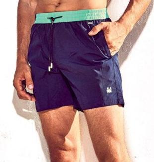 Fialové pánské italské plavkové šortky