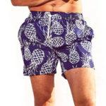Pánské plavkové šortky s motivem ananasů