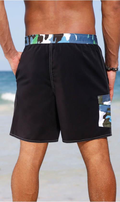 Pánské plavkové šortky s vnitřními slipami. Pánské plavky s maskáčovým  motivem d7bcb14647