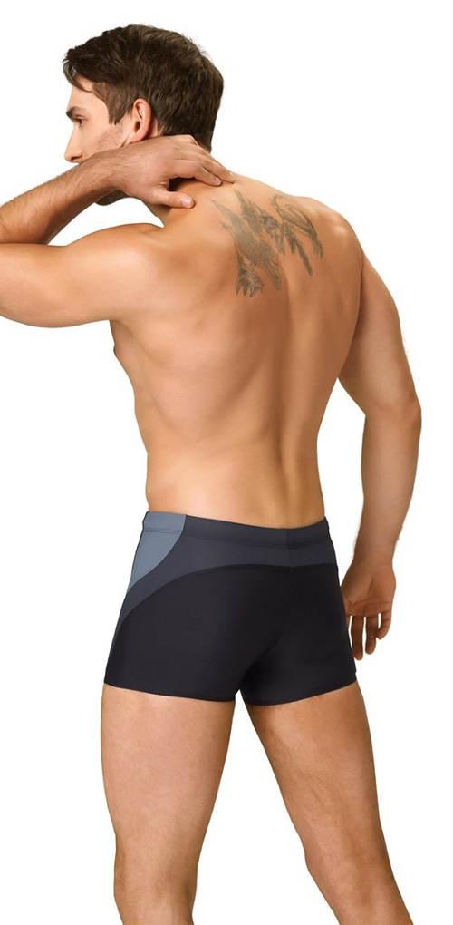 Černošedé nohavičkové plavky