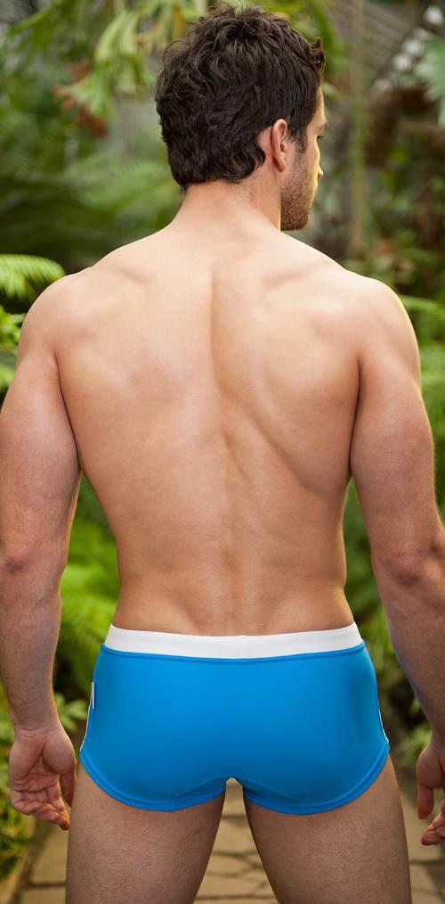 Plavky azurové boxerky