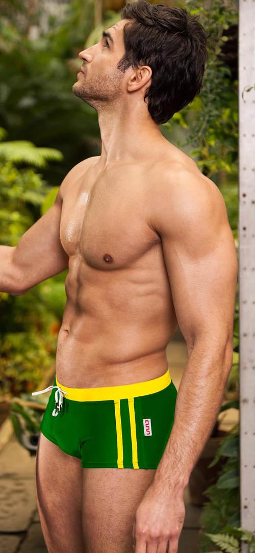 Zelené pánské plavky s nohavičkou