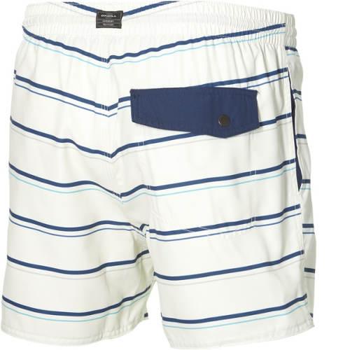 Bílo-modré pruhované pánské plavkové kraťasy