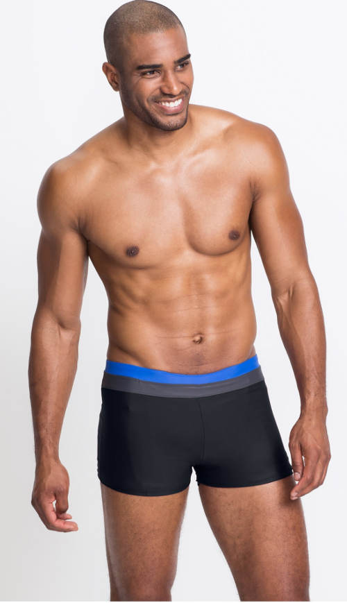 Černé plavky s nohavičkou