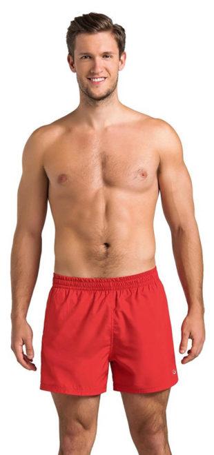 Červené rychleschnoucí pánské plavkové kraťasy