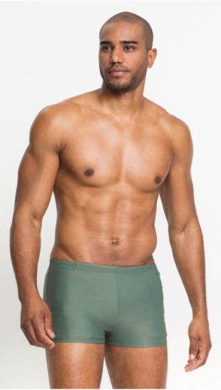 Olivové pánské plavky s nohavičkou