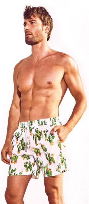 Pánské plavkové šortky s exotickými kaktusy