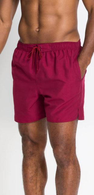 Jednobarevné pánské plážové šortky