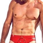 Červené pánské slipové plavky Astratex